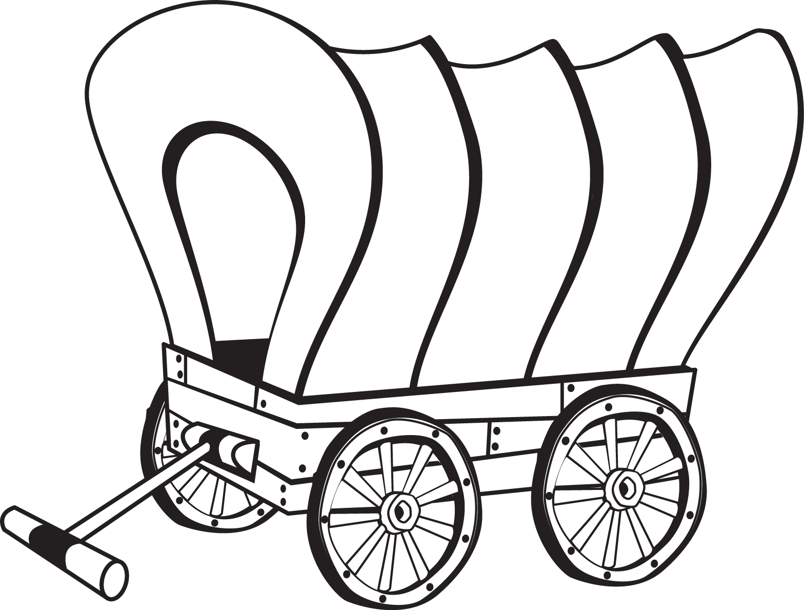 wagon train coloring pages - photo#38